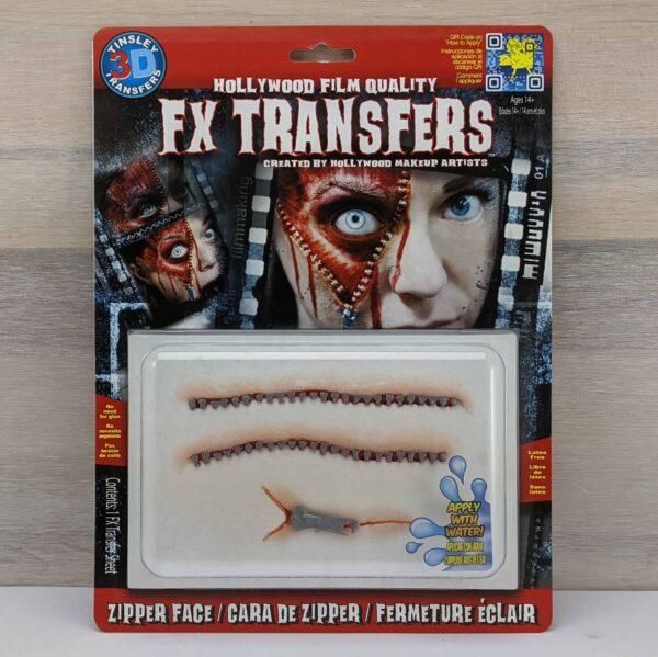 Tinsley 3D Transfers Zipper Face