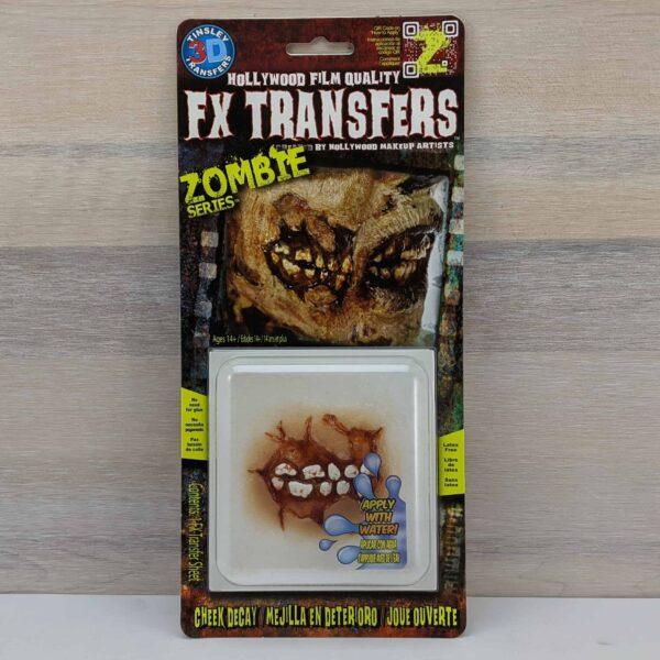 Tinsley 3D Transfers Zombie Cheek Decay