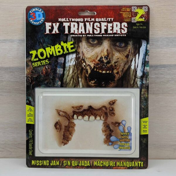 Tinsley 3D Transfers Zombie Missing Jaw