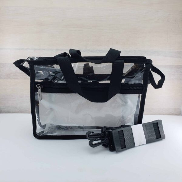 Monda Clear Set Bag Small Black Back scaled