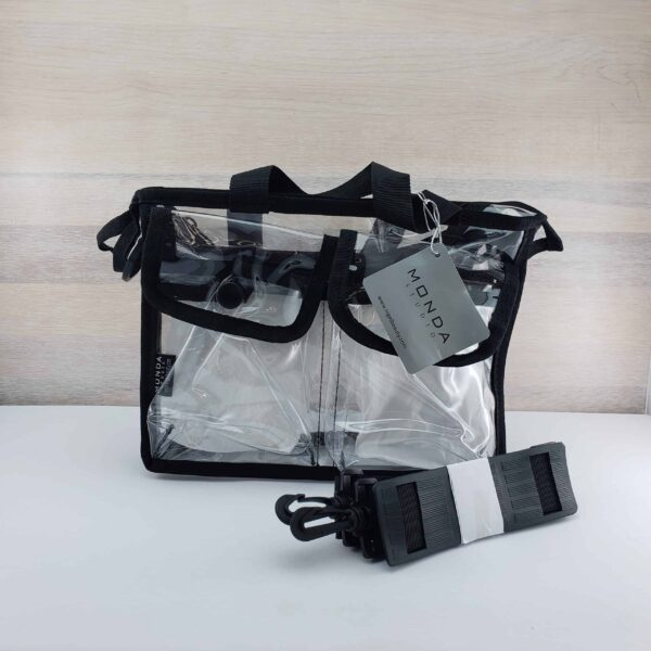 Monda Clear Set Bag Small Black Front scaled