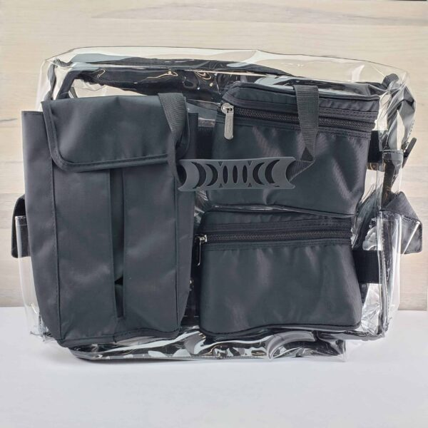 Monda Makeup Artist Clear Set Bag with Pouches Back scaled