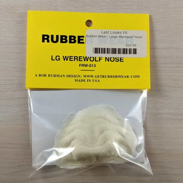 Rubber Wear Large Wereolf Nose