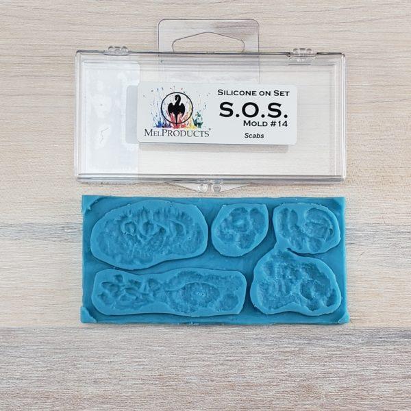 Mel S.O.S Silicone Mold - Scabs