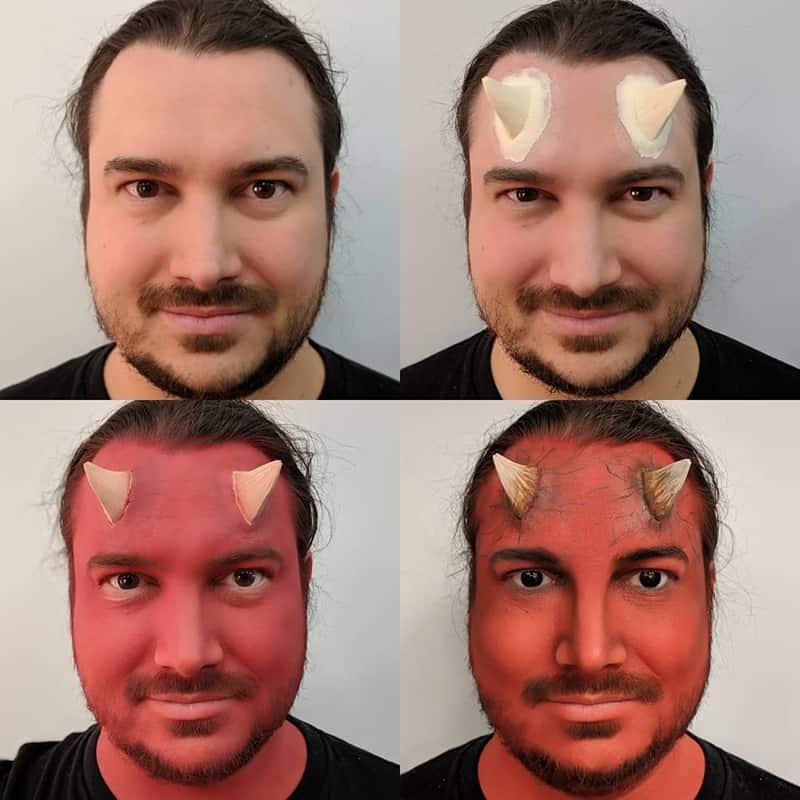 Devil Makeup Collage