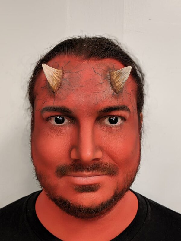 Devil Makeup Step 10 with Contacts