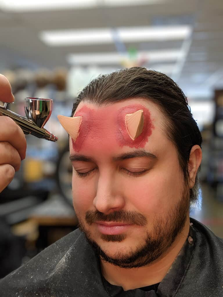 Devil Makeup Step 6b