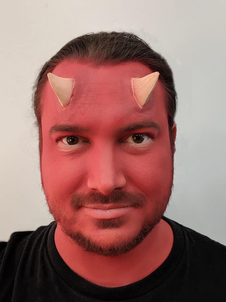Devil Makeup Step 7
