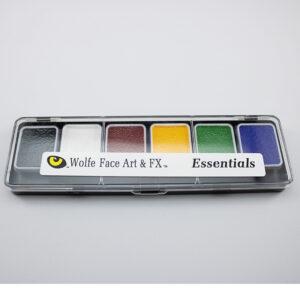 Wolfe Face Paint 6 Color Palette Essentials